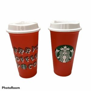 Set Of 2 Starbucks 2018 Limited ed. Reusable Cup